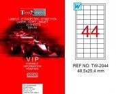Tanex Tw 2044 Gümüş Lazer Yazıcı Etiketi