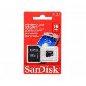 Sandisk 16gb Micro Sdhc Uhs I Class 4 Hafıza Kartı Ve Adaptör