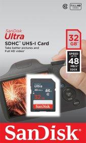 Sandisk 32gb Ultra Sdhc Uhs I Bellek Kartı