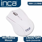 ınca Iwm 121rmb 2.4 Ghz 1600 Dpı Inca Track Red Sensör Wıreless Nano Alıcılı Beyaz
