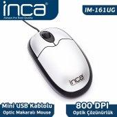 ınca Im 161u Usb Optıc Mouse Gümüş Siyah