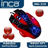 ınca Img 319 8d +4800 Dpı+7 Color Led Usb Gamıng Mouse + Mousepad
