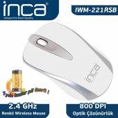 ınca Iwm 221rsb 2.4 Ghz Inca Track Red Sensör Wireless Nano Alıcılı Mouse Beyaz