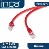 ıcat6 02tk Inca Cat6 2 Metre Kırmızı