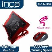 ınca Inc 341tsk Notebook Soğutucu + Mouse Set Kırmızı