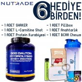 Nutrade 500 Dalton Hydrolysed Whey Protein Limonade 2250 Gr 6 Hed