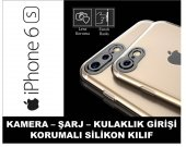 Iphone 6s Kamera Korumalı Kaliteli Silikon Kılıf