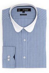 Pıngömlek Vento 69 Beyaz Yaka Spor Str Erkek Gömlek