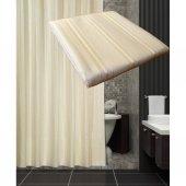 Zethome Tropik Otel Banyo Duş Perdesi A200 Çift Kanat Krem 2x120x