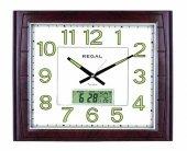 Regal 0555 Awzf Isı Ölçer Takvimli Fosforlu Duvar Saati