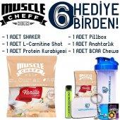 Muscle Cheff Vanilyalı Proteinli Kurabiye 50 Gr 15 Adet 6 Hediye
