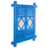 Home Stuff Mavi Ahşap Duvar Aynası 62x3x76 Cm