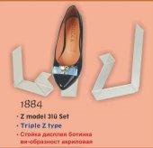 1884 Şeffaf Akrilik Z Model 3&#039 Lü Set