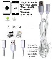 Samsung İphone Manyetik Mıknatıslı Hızlı Usb Şarj Ve Data Kablosu