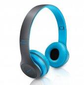 P47 2018 Fm Radyolu Mikrofonlu Katlanabilir Bluetooth Kulaklık Mp