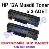 Hp 12a Muadil Toner 2 Li Eko Paket
