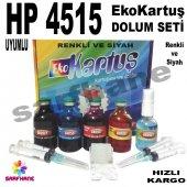 Hp 4515, Hp 4645, Hp 650 Ekokartuş Dolum Seti 4x50...