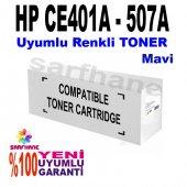Hp Ce401a Uyumlu Mavi Toner M570 M575 M551 (507a)
