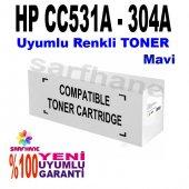 Hp Cp2025 Cm2320 Mavi Muadil Toner Cc531a 304a