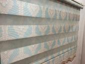 Yeni Sezon Brillant Desenli Zebra Perde Mavi Pembe Osmanlı Stor