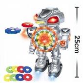 ışıklı Yürüyen Sesli Disk Atan Robot Oyuncak