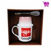 Google+ Logolu Kupa Bardak & Çerez Takımı