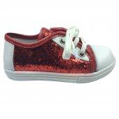 Tıpış Tıpış Tedi Kız Çocuk Deri Simliconvers Parlak Ayakkabı Spor