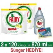 Fairy Hepsi Bir Arada Bulaşık Makinesi Kapsülü Limon Kokulu 240 Ad.