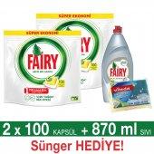 Fairy Hepsi Bir Arada Bulaşık Makinesi Deterjanı Kapsülü Limon 200&#039 Lü