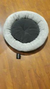 Bedspet Simit Kedi Köpek Yatağı Koyu Gri Açık Gri