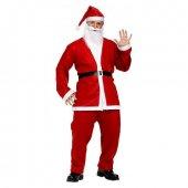 Noel Baba Kostüm Seti Polar Kemer Çuval Şapka Pantolon Ceket Yet