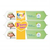 Uni Baby Natural Islak Havlu 3 Lü Avantaj Paket
