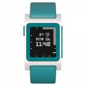 Pebble 2 + Nabız Ölçümlü Akıllı Saat (Mavi Beyaz)