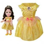 Disney Prenses Belle Kostümlü Ve Bebek Seti 2 4 Yaş