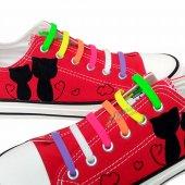Renkli Silikon Ayakkabı Bağcığı 7+7 100 Yerli Sınırlı Stok