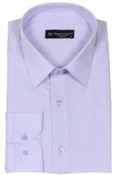 Erkek Gömlek Lila Slim Fit Uzun Kollu Rar00175