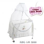 Happy Baby Class Lame Beşik (Gümüş)