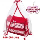 Happy Baby Class Desenli Ninni Beşik (Kırmızı)