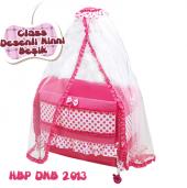 Happy Baby Class Desenli Ninni Beşik (Pembe)