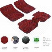 Dodge Journey Dekor Kırmızı Oto Paspas Şık Tasarım 5 Parça
