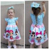 Lol Bebek Baskılı Elbise (2 4 Yaş)