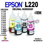 Epson L220 Orijinal Mürekkep 4 Renk T6641 T6644