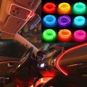 Araç Araba İçi Torpido Ledi Şerit Renkli İp Neon İ...