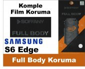 Soffany Samsung S6 Edge Full Body Komple Koruma Nano Film 360 Der