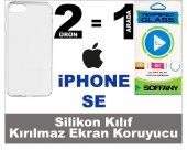 Iphone Se Silikon Kılıf + Soffany Kırılmaz Ekran Koruyucu