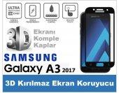 Samsung A3 2017 3d Komple Kapatan Kırılmaz Cam Ekran Koruyucu