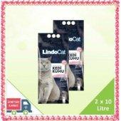 Lindo Cat Topaklanan İnce Taneli Parfümlü Kedi Kumu 2 X 10 Litre