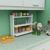 Dekoratif Kullanışlı Mutfak Tezgah Üstü Raf