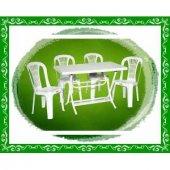 Plastik Katlanabilir Masa Ve Sandalye Takımı