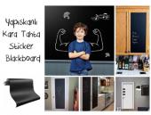 Yapışkanlı Kara Tahta Yazı Tahtası Sticker Blackboard